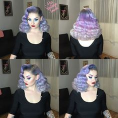 Full view of my amazing hair from Tony Medina💜 My hair color was first done b. - İnteresting Hair İdeas Here Pastel Hair, Purple Hair, Pastel Purple, Blond, Pixie, V Instagram, Rockabilly Hair, Natural Hair Styles, Long Hair Styles