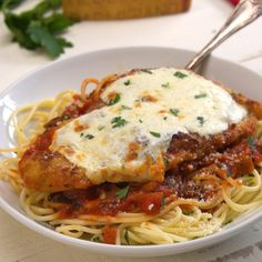 Amazing Chicken Parmesan that's easy to prep