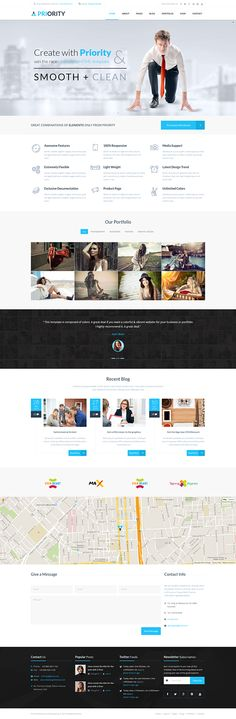 Priority | Multipurpose HTML5 Template on Behance