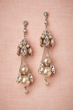Gilted Pearl Chandeliers in Shoes & Accessories Jewelry Earrings at BHLDN Bridal Accessories, Wedding Jewelry, Jewelry Box, Vintage Jewelry, Jewelry Accessories, Vintage Earrings, Jewelry Stand, Jewelry Bracelets, Pearl Chandelier