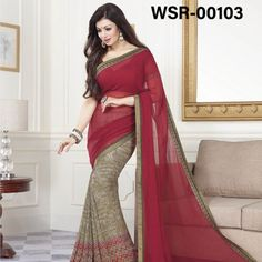 Pure Georgette Indian Saree with Blouse pcs – Star Walk-11 (Dark Red) is now available at TopAllBrand. You can buy the latest Designer Pure Georgette with Blouse pcs Sarees Online from our platform. We are authorised direct Exporter of a Indian Designer Sarees in Bangladesh.