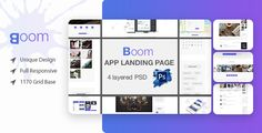 Boom Mobile App Landing Page PSD Template by yuafaui Boom What is Boom Mobile App Landing Page PSD? Boom App Landing Page is a design for Mobile App landing page website. Boom Mobile