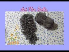 Tutorial:  Dicas de como fazer cabelo de boneca de lã cacheado.
