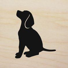 Beagle Art Block version 3  HandCut Dog by MillerSyeShadows, $29.00
