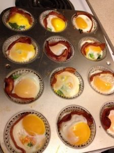 """Paleo breakfast """"muffins"""". Bake on Monday and eat off them all week!"""