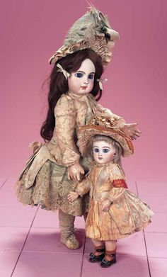 French Bisque Bebe E.J. by Jumeau with Original Jumeau Couturier Dress