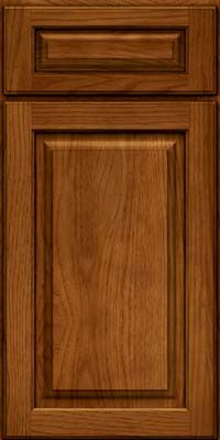Arch Raised Panel - Solid (PWH) Hickory in Sunset - Base
