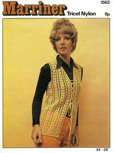 Ladies Sleeveless Jacket Crochet Pattern 1960 by LittleJohn2003