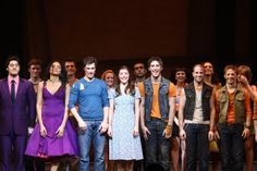 Cody as Riff and cast of West Side Story ...curtain call.
