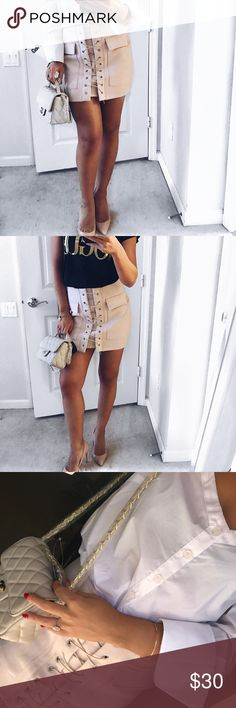 ab2161e7f6ca5 Lace up detail skirt - Lace up detail