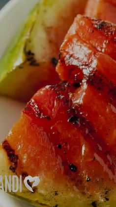 Spicy Grilled Watermelon Recipe. Looking for a new fun side dish for your next get together? This spicy grilled watermelon recipe is great and easy to make! Spice up your watermelon today!