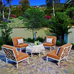 The Hyde Park Collection by O.W. Lee. Elegant outdoor collections and spaces.