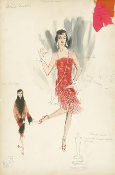 Ann Miller's role in the all-star musical biopic DEEP IN MY HEART featured these flapper costumes designed by two-time Oscar winner Helen Rose. Fashion Prints, Fashion Art, Vintage Fashion, Film Fashion, Ballet Fashion, 1930s Fashion, Fashion Dolls, Fashion Design, Rose Costume