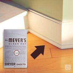 Keep Baseboards #Clean with a Dryer Sheet     1. Use a dryer sheet to keep dust and hair away from your baseboards and corners of your floor.   2. This works because dryer sheets not only banish static, but it also coats as it cleans and leaves a fresh scent.