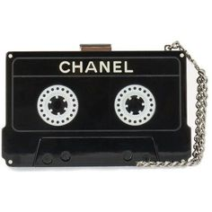 Runway Cassette Tape Minaudiere ($15,000) ❤ liked on Polyvore featuring bags, handbags, clutches and minaudiere purse