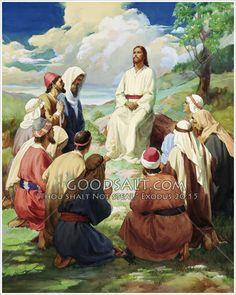 Jesus Teaching Disciples to Pray Christian Images, Christian Art, Jesus Christ Painting, Jesus Teachings, Images Of Christ, Bible Pictures, Jesus Loves You, Jesus Cristo, Heavenly Father