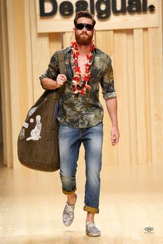 Desigual Spring/Summer Men's Collection 2015- I like everything but the beanbag chair has to go.