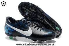 Veloce FG Ossidiana Argento Nike Mercurial CR7 (Blue) 2014 Soccer Cleats