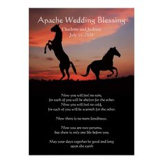 Apache Wedding Blessing silhouette Poster