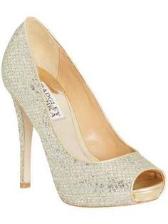 wedding shoes, sparkly shoes, badgleymischka