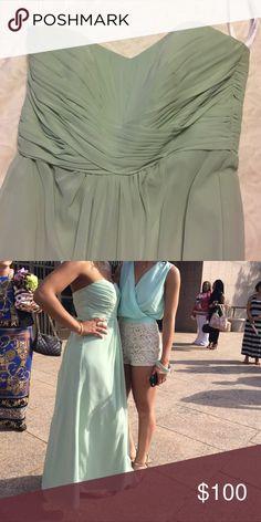Formal dress, prom or bridesmaid Sea foam green. Worn once. Floor length David's Bridal Dresses Prom