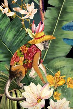 Chinoiserie, Textures Patterns, Print Patterns, Monkey Wallpaper, Summer Prints, Pattern Images, Painting Patterns, Sculpture Art, Art Inspo