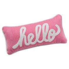 Hello Pillow #westelm