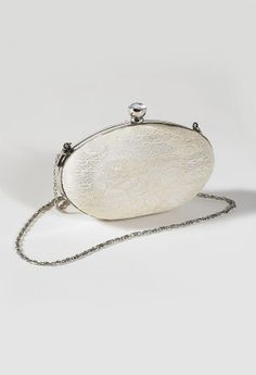 Glitter Lace Oval Frame Hand Bag from Camille La Vie and Group USA prom clutch
