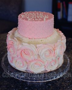 Will definitely attempt one day.  Beautiful cake for a girl's birthday, any age..
