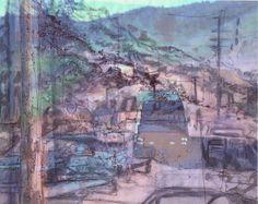 Ren Adams Art. The Cascade Project still: digital, photography, ink, Prismacolor. 2014.