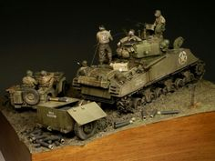 A day at the front, Sherman 105, Germany, March 1945  sculpted & painted by Radek Pituch
