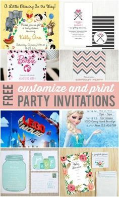 Simple customizable invitations you can print yourself!