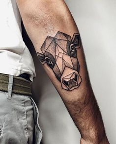 Image result for tattoo geometric cow