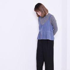 POUDOUDOU  STAFF COORDINATE ---------------------------------------------------- pull-over 4900tax pants 6900tax (staff model hiratou from LAFORET harajuku )  #poudoudou#pdd16aw