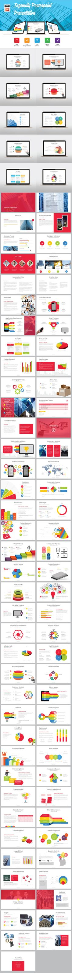 Ingenuity Business Presentation PowerPoint Template #design Download: http://graphicriver.net/item/ingenuity-business-presentation/12380875?ref=ksioks