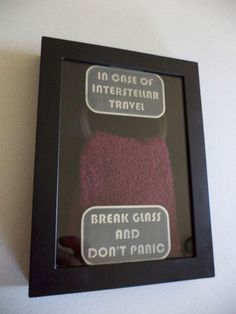 THE HITCHHIKER'S GUIDE TO THE GALAXY Emergency Towel Wall Display