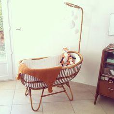 Berceau en rotin Fresh & Vintage - Les Enfants du Design | Baby ...