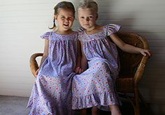 Girls Size 4, 100% COTTON Knit NIGHTGOWN for Christmas, Purple, Vintage Style, Ready to Ship (also in Sizes 6, 8,10) NO Flame Retardants