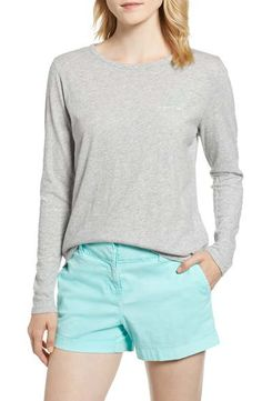 Nantucket Outfits: Everything to Pack for Summer in Nantucket Nantucket Massachusetts, The Chic, Vineyard Vines, Cotton Tee, Everything, What To Wear, Casual Shorts, Long Sleeve Tees, Short Dresses