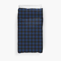 Buffalo plaid blanket cover in navy and black. Dorm life. Home decor. For boys, men, hipsters, lumberjacks, boho by linepush