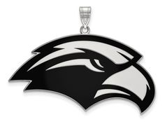 LogoArt Sterling Silver University Of Southern Misterling Silver XL Enamel Pendant Necklace - Chain Included