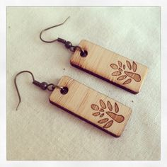 Wood Burn Earrings.