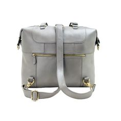 A leather backpack diaper bag by Lily Jade will accompany you through motherhood and beyond. Our innovative and multi-functional bags are meticulously crafted from superior leathers and fitted with durable inner liners. Each gorgeous leather handbag converts to a backpack in seconds, and comes complete with a removable, washable 12-pocket organization insert that protects your tote and allows it to serve double duty as a diaper bag and a beautiful handbag. Motherhood is beautiful, and your…