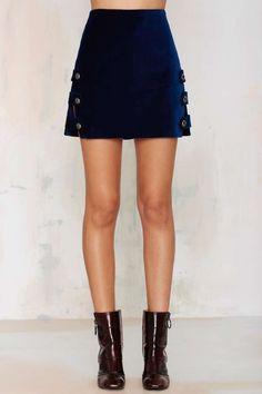 Nasty Gal Day Tripper Velvet Mini Skirt - Sets | Best Sellers | Skirts