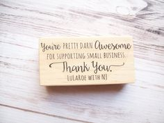 Thank you for supporting small business stamp thank you stamp thank you stamp with website address for small business custom business card stamp photographers independent artists etsy sellers colourmoves