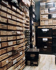 This room fills me curiosity.  What is in all these boxes?