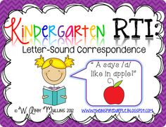 A *new* RTI pack featured at The Inspired Apple :)