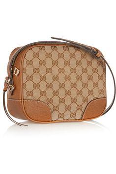 beb1b9b3eb43 Gucci - Bree leather-trimmed coated canvas shoulder bag