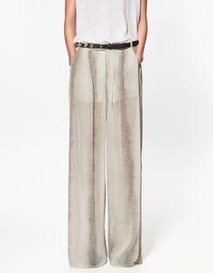 pantapalazzo beige pantaloni palazzo pants