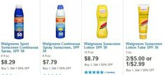 Save up to 50% on Sunscreens at Walgreens